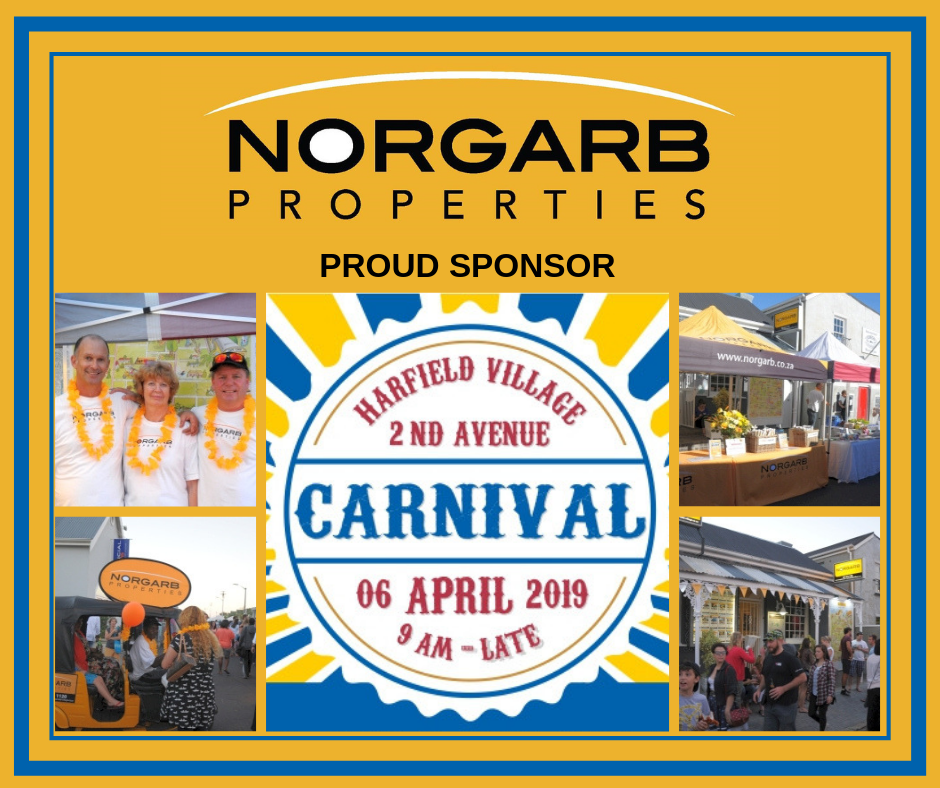 Norgarb Properties has always been an avid supporter and sponsor of the Harfield Village Carnival since 2009.  Once again, we are a proud sponsor of this fun-filled event for 2019.