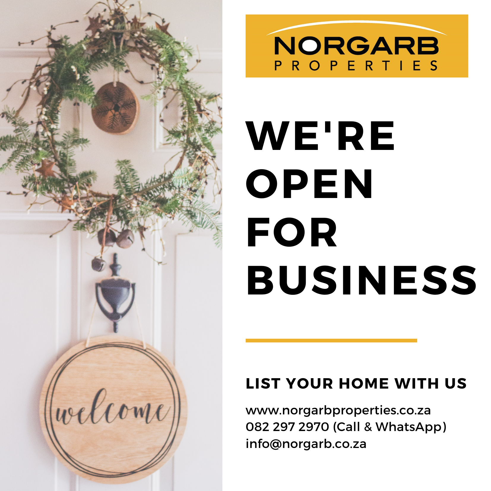 Despite the lock-down, we are very much open for business and ready to help you right away!