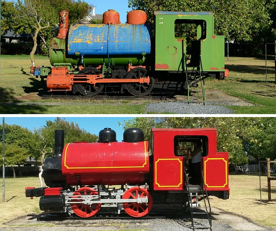 The iconic train at Choo Choo Park in Claremont has a rich history that few people know about. Andre Ter Morshuizen goes in search of the back-story behind the fire-red engine and finds that it has travelled land and sea to get to its final resting place.