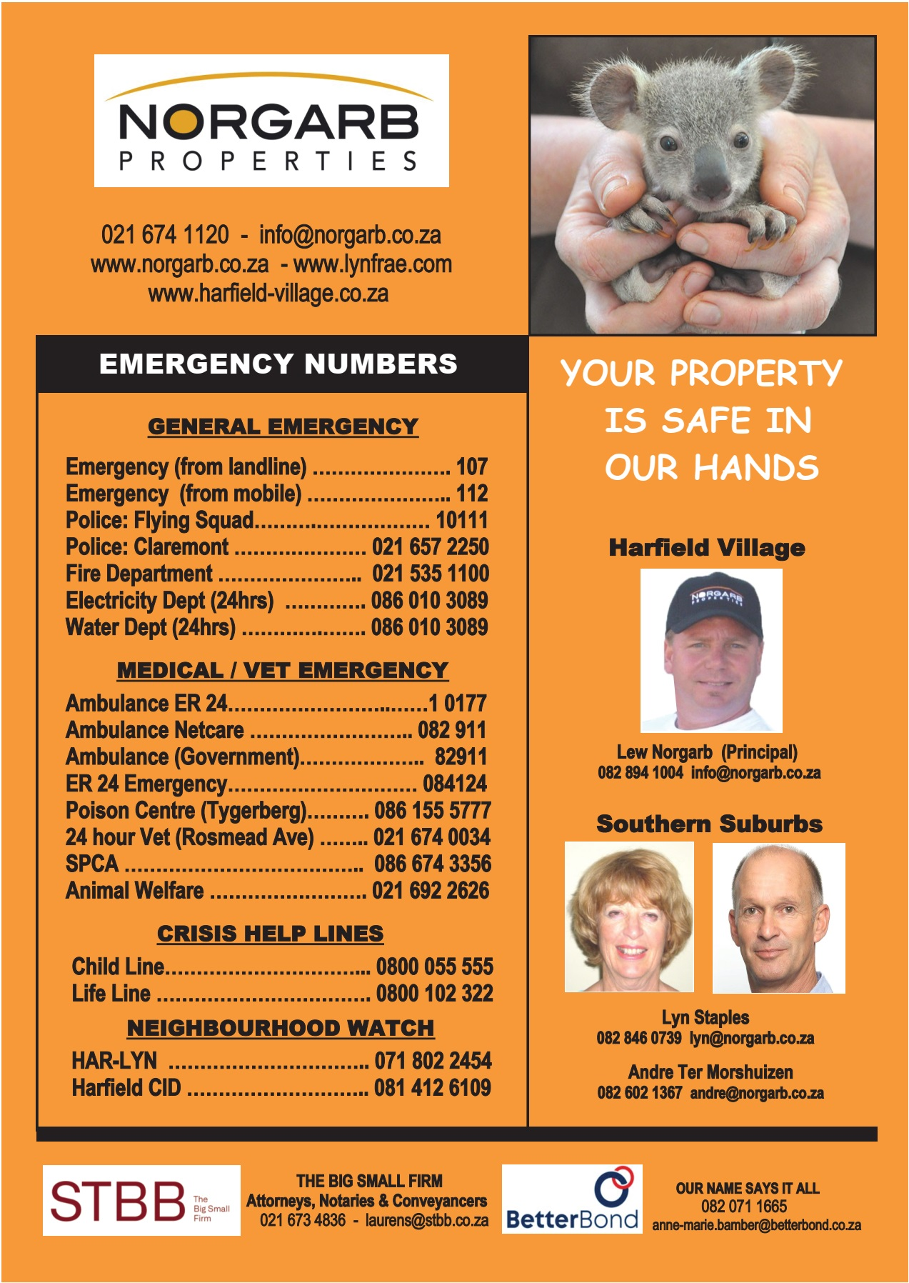 Harfield Village Emergency Numbers